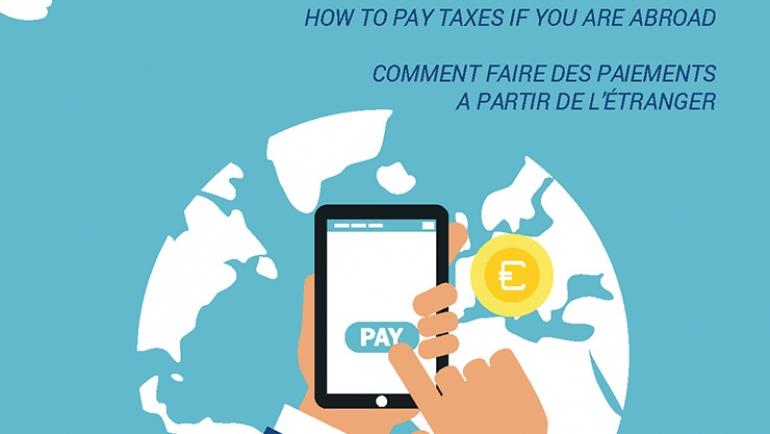 Pagamento de impostos a partir do estrangeiro