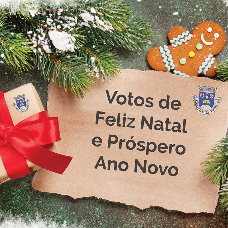 Votos de Feliz Natal e Próspero Ano Novo