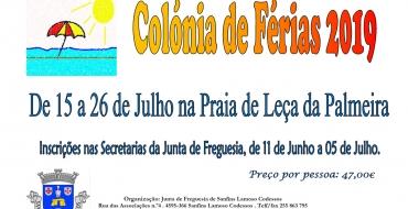 Colónia de Férias 2019 –  15 a 26 de julho na praia de Leça de Palmeia 🏖